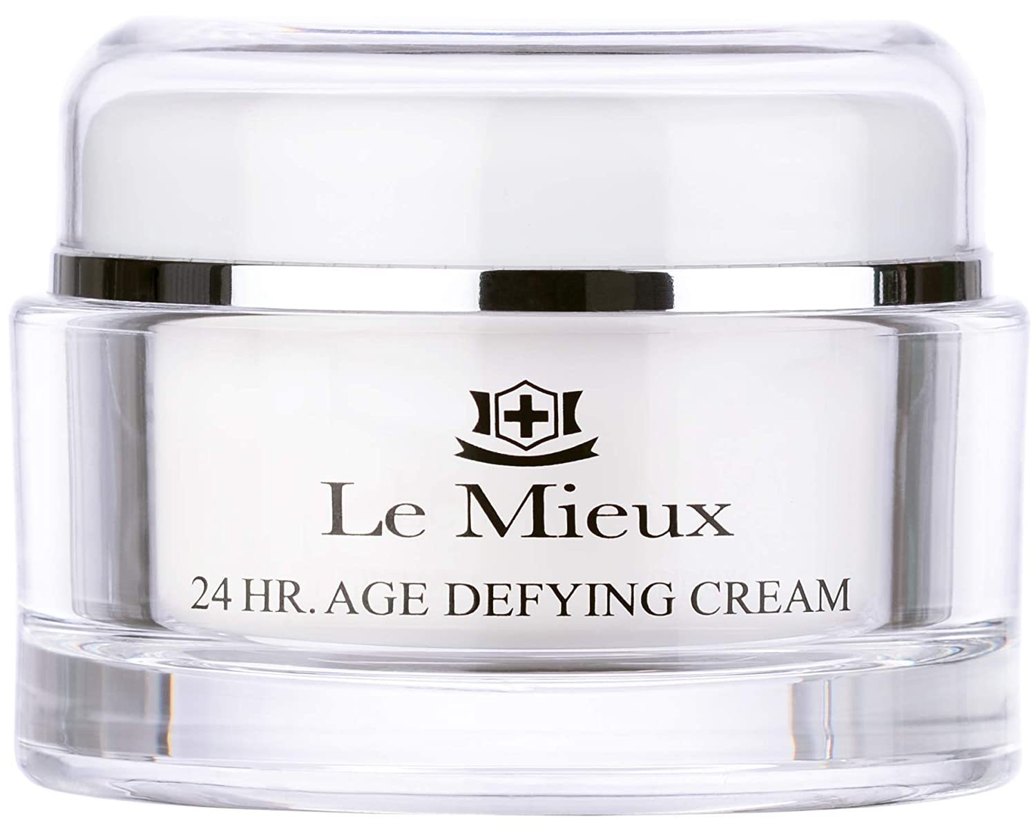 Le Mieux 24 Hr. Age Defying Cream - Rich Moisturizer for Long Lasting Hydration with Hyaluronic Acid Base & Peptides, No Parabens or Sulfates (1.75 oz / 52 ml)
