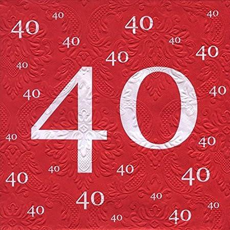 Servilletas con diseño de 40 cumpleaños con diseño de 20 pcs ...