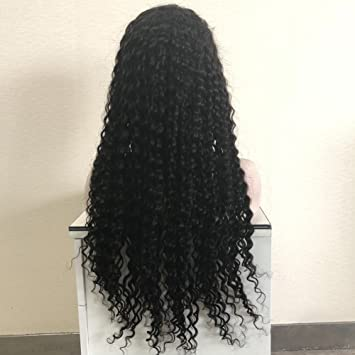 85b4965f5a4 Forawme 30 Inch Real Remy Virgin Human Hair Long Pre Plucked Full Lace Wigs  On Sale 130% #1B...