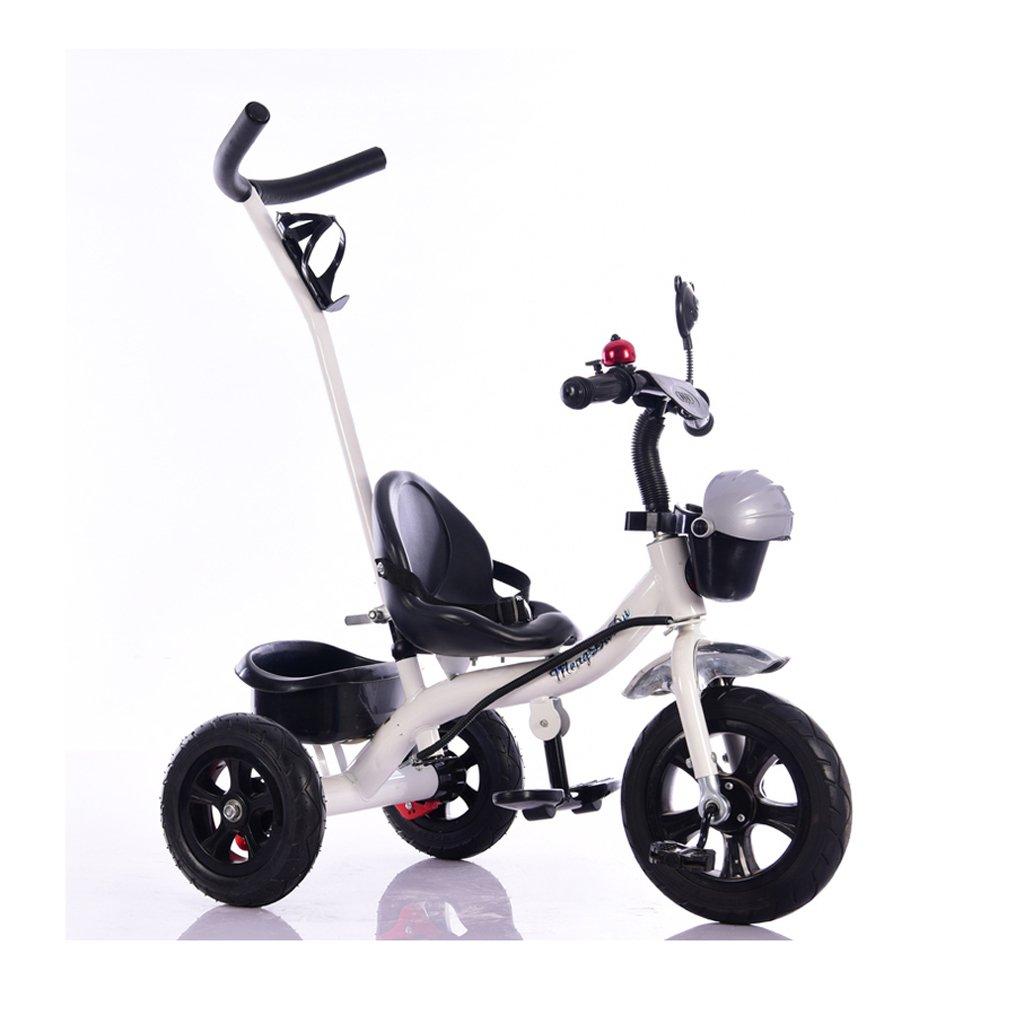 1-4歳の環境にやさしいプラスチックの白い自転車屋内と屋外のシンプルな子供の三輪車自転車   B078JYZ1PY