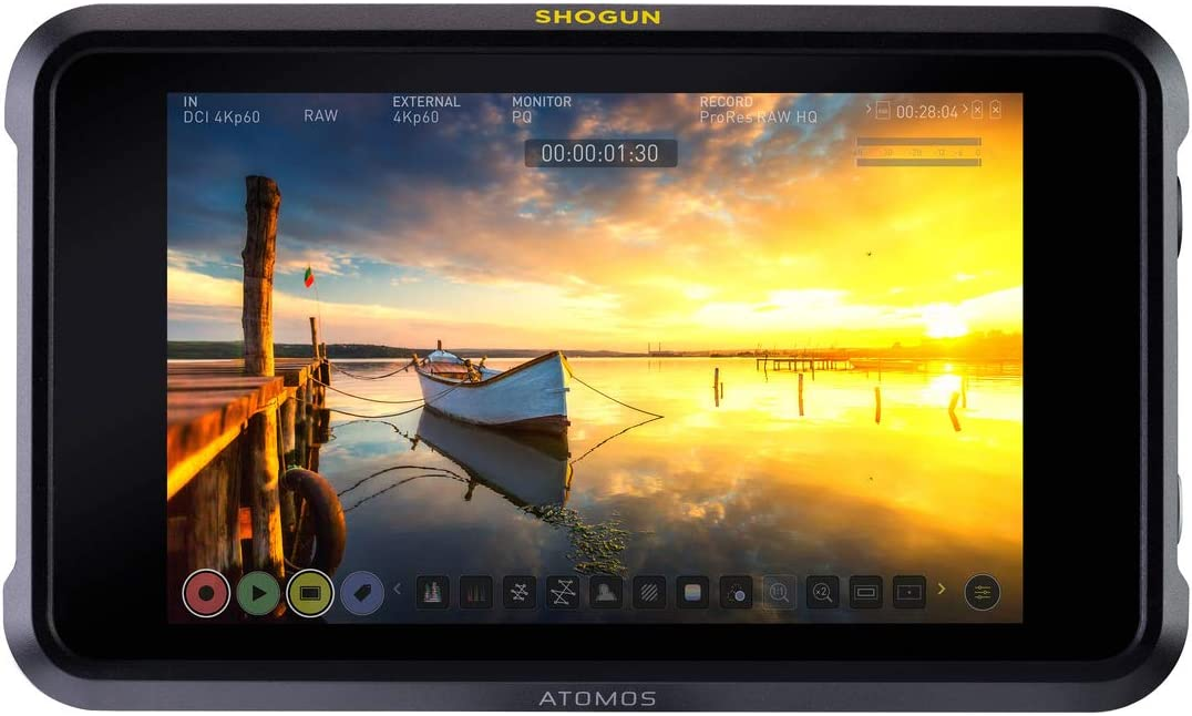 Atomos Shogun 7 HDR Pro Cinema Monitor Recorder Switcher with Atomos Full Accessory kit with 7 Magic Arm and Cleaning Cloth Bundle Kit ATOMACCKT1