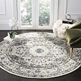 Safavieh Evoke Collection EVK220D Vintage Oriental Grey and Ivory Round...