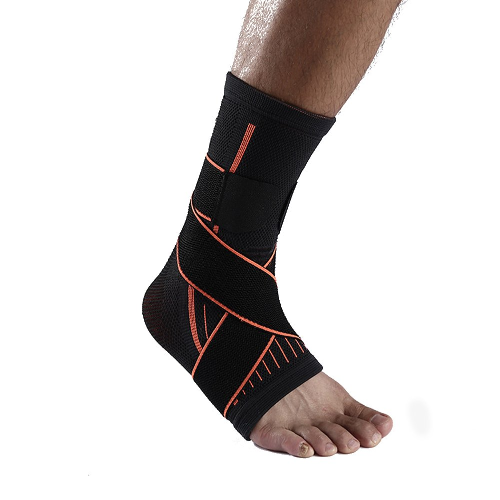 1 Pair Breathable Ankle Support Ankle Brace Foot Protector For Running Basketball and Other Outdoor Sport Ridering