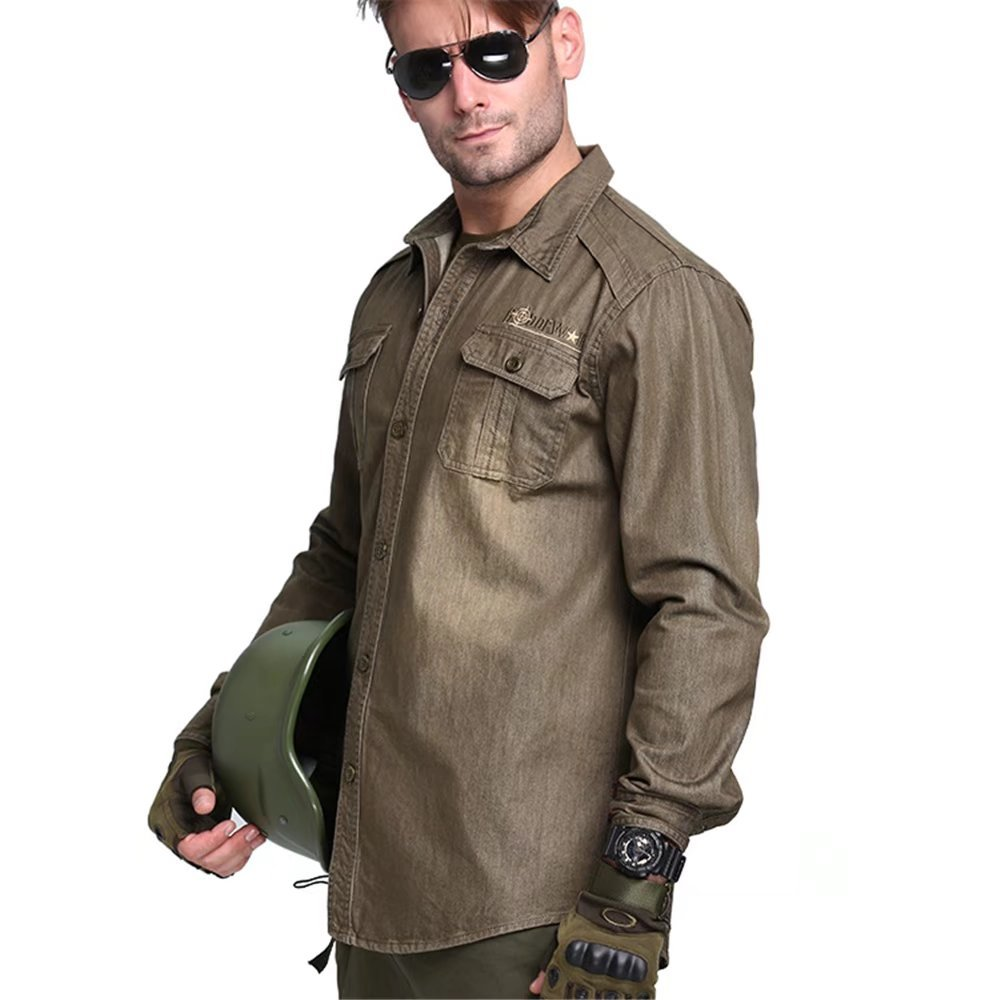 Jhion Mens Casual Dress Shirt Button Down Shirts