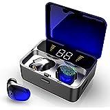 【2019最新版 グラデーショ】Bluetooth イヤホン LEDディスプレイ ワイヤレスイヤホン IPX7防水 CVC8.0ノイズキャンセリング ブルートゥース イヤホン bluetooth 5.0+EDR搭載 Hi-Fi高音質 スポーツイヤホン 最大100時間連続駆動 左右分離型 片耳 両耳 マイク付き 自動ペアリング 音量調節 Siri対応 iPhone/ipad/Android適用 [メーカー1年保証]