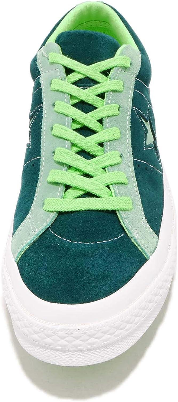 Converse Men's One Star Suede Ox Sneakers Ponderosa Pine/Neptune Green