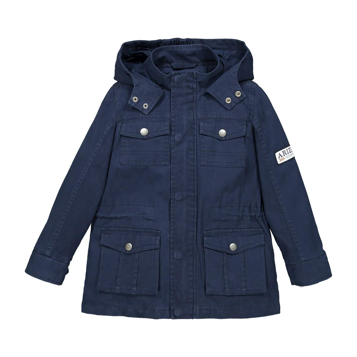 La Redoute Collections Cotton Hooded Parka, 3-12 Years Blue Size 6 Years (114 cm)