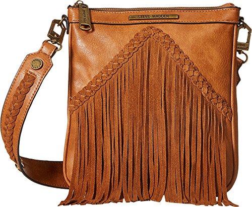 29e00105f Steve Madden Women's BLee Fringe Crossbody Cognac Crossbody Bag ...