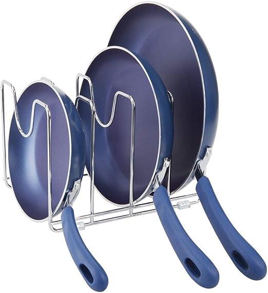 mDesign Soporte para sartenes, ollas y tapas – Organizador de ...