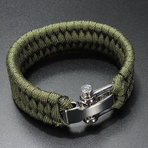 Dcolor 7 Strand Supervivencia Militar pulsera de la cuerda de la ...