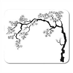 Almohadillas para ratón Árbol Ramas de cerezo con flores