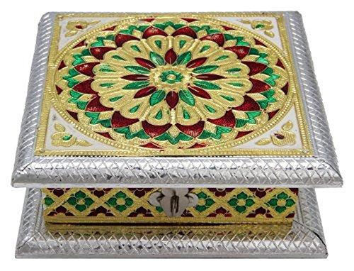 Handpainted Wooden Meenakari Diwali Mithai Gifting Box - SSCM813PH0002bi