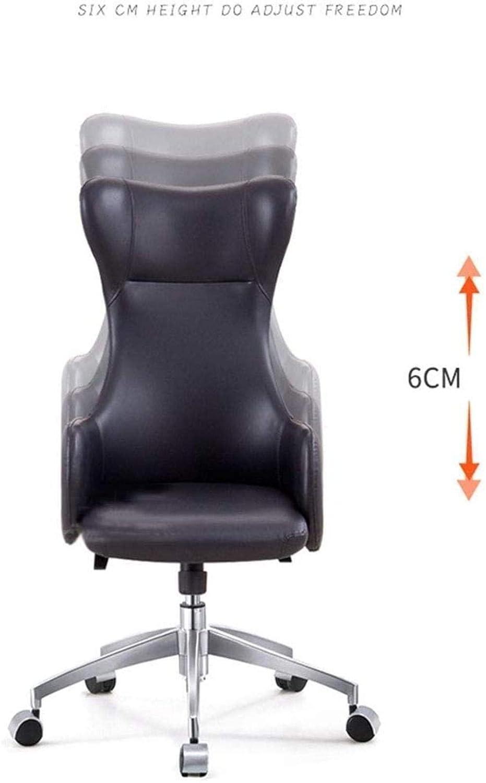 Skrivbordsstolar kontorsstol roterande verkställande stol lounge hög rygg stol datorstol svängbar chef stol knästol (färg: Blå) Lila