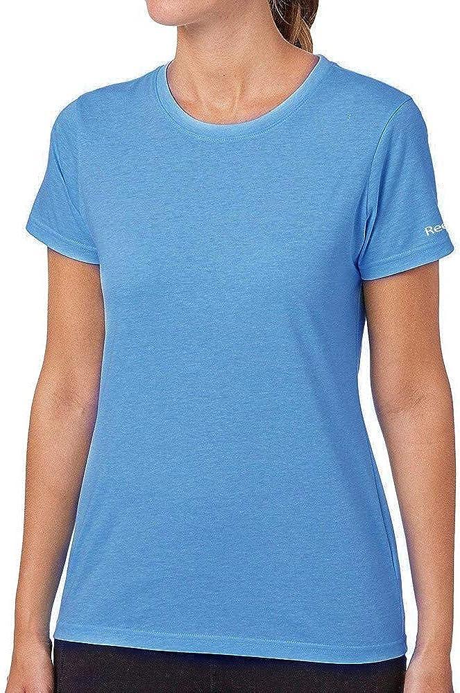 Reebok Womens Light Blue Tri-Blend Crew T-Shirt B88892