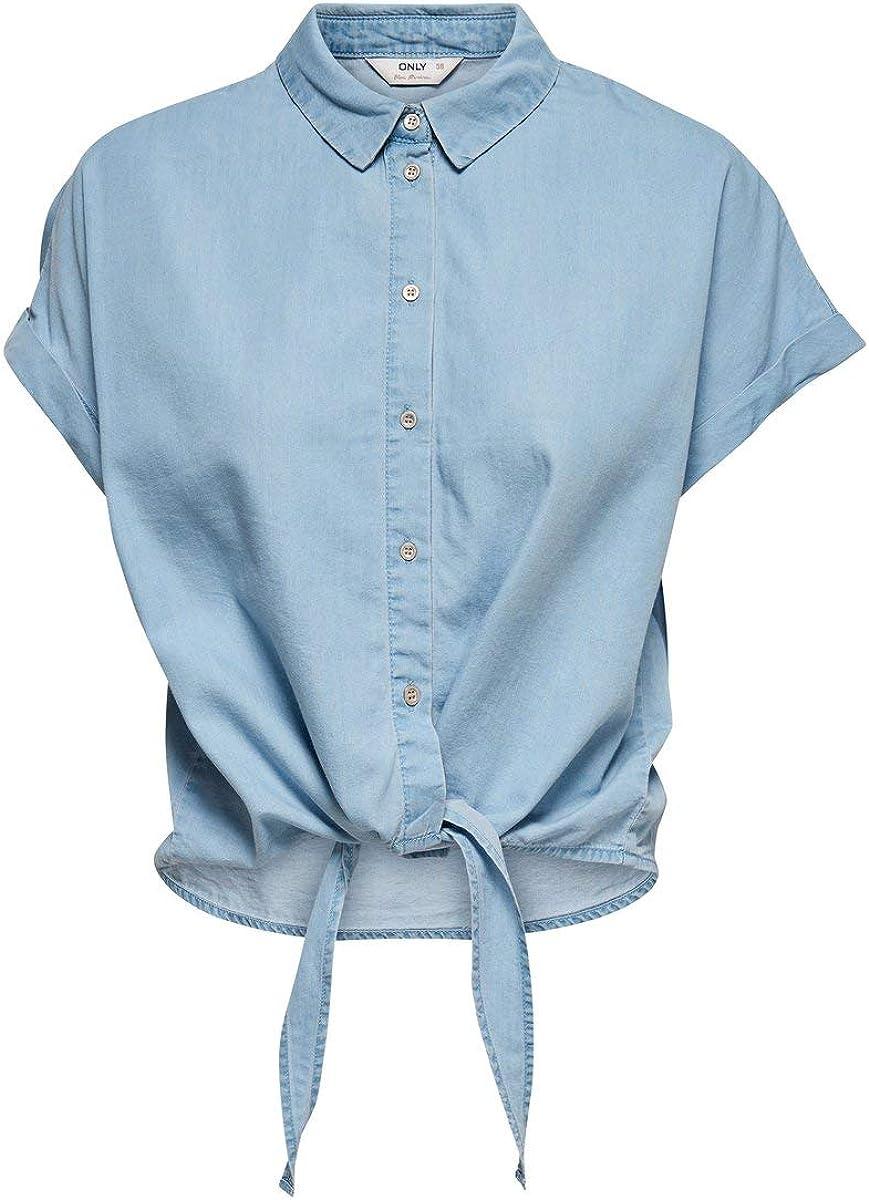 ONLY - Camisa vaquera para mujer: Amazon.es: Ropa y accesorios