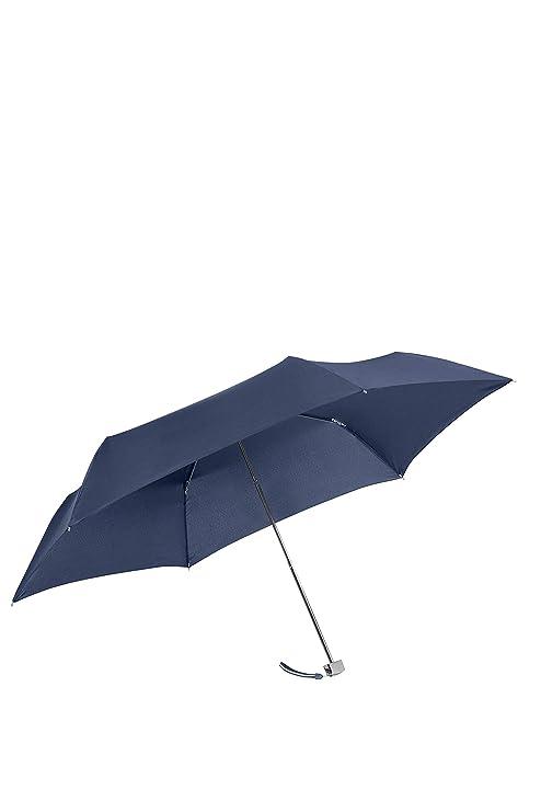 SAMSONITE Rain Pro 3 Section Manual Ultra Mini Flat Paraguas clásico, 22 cm, Azul