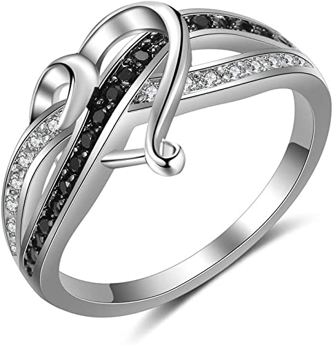 Rhodium-Plated Sterling Silver HeartArrow Freshwater Pearl /& CZ Ring