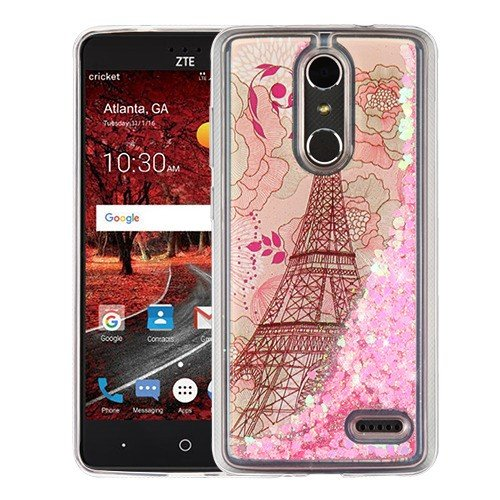 newest eb5e5 6d0f3 Casey Waterfall Case for ZTE BLADE SPARK (Z971), ZTE ZMAX ONE (Z719DL) Case  [Sparkle Bling] [Flowing Liquid Quicksand Glitter Sand] Protective Hybrid  ...