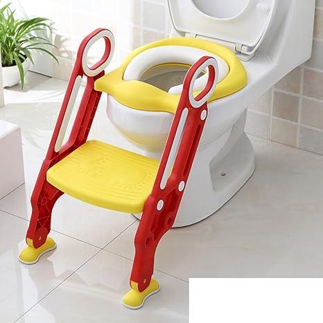 Los niños de baño sentado silla inodoro escalera Hombres y Mujeres bebé grande para inodoro A: Amazon.es: Bebé