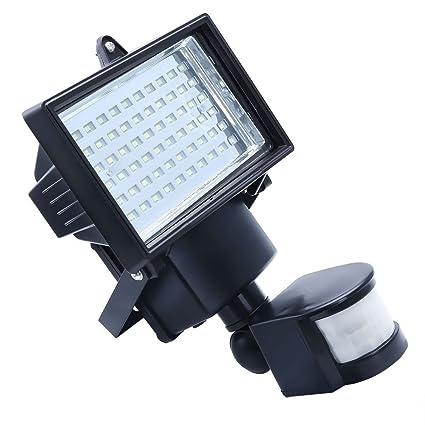 Apgstore 60 LED solar de movimiento PIR seguridad del sensor del reflector de la lámpara de