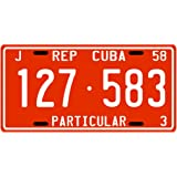 Cuba Pre-revolution 1958 Replica Metal License Plate