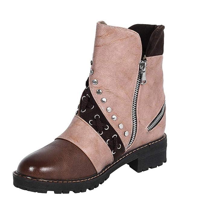 Amazon.com: ⭐ Futurelove ⭐ Women Ankle Boots Low Heels ...