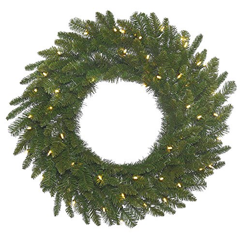 Vickerman Durango Spruce Wreath with 105 Green PVC Tips & 50 Italian LED Lights on Green Wire, 20