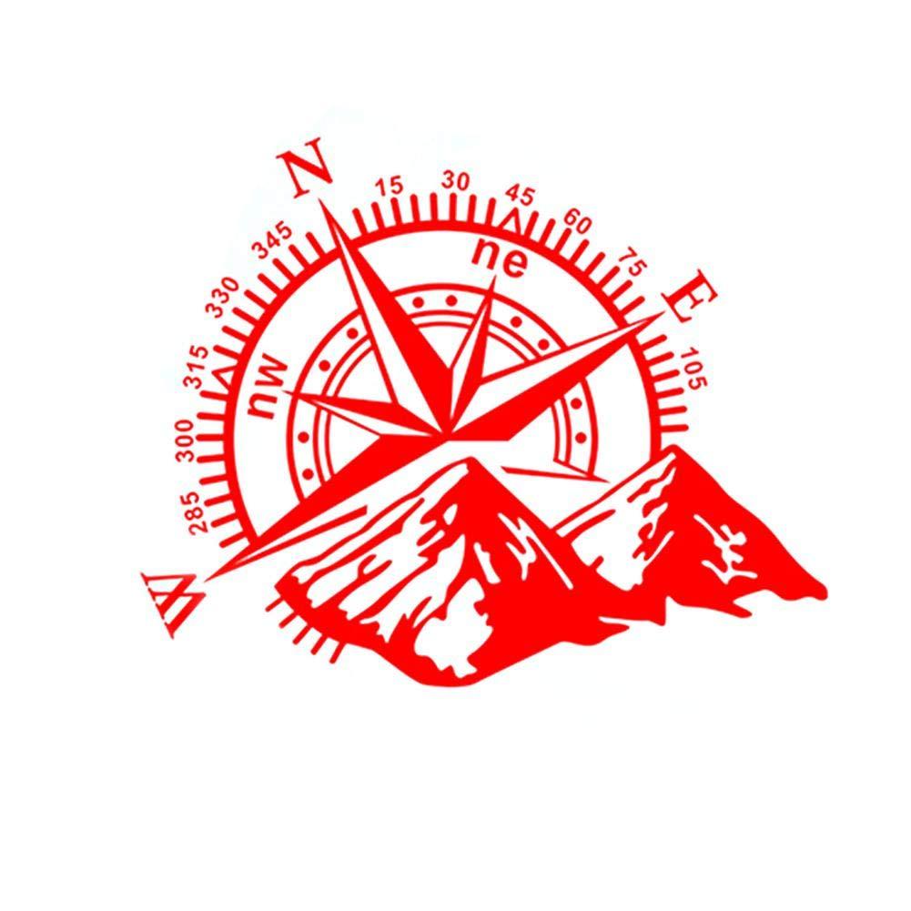 runnerequipment 1 unids 3D Etiqueta engomada del Coche Navigate Compass Mountain Car Decal Sticker 60 50 cm
