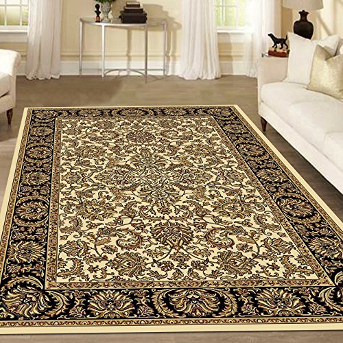 Radici 1305 NOBLE Rugs, 7-Feet 9 by 9-Feet 6-Feet, Ivory - Ivory Noble Traditional Rug