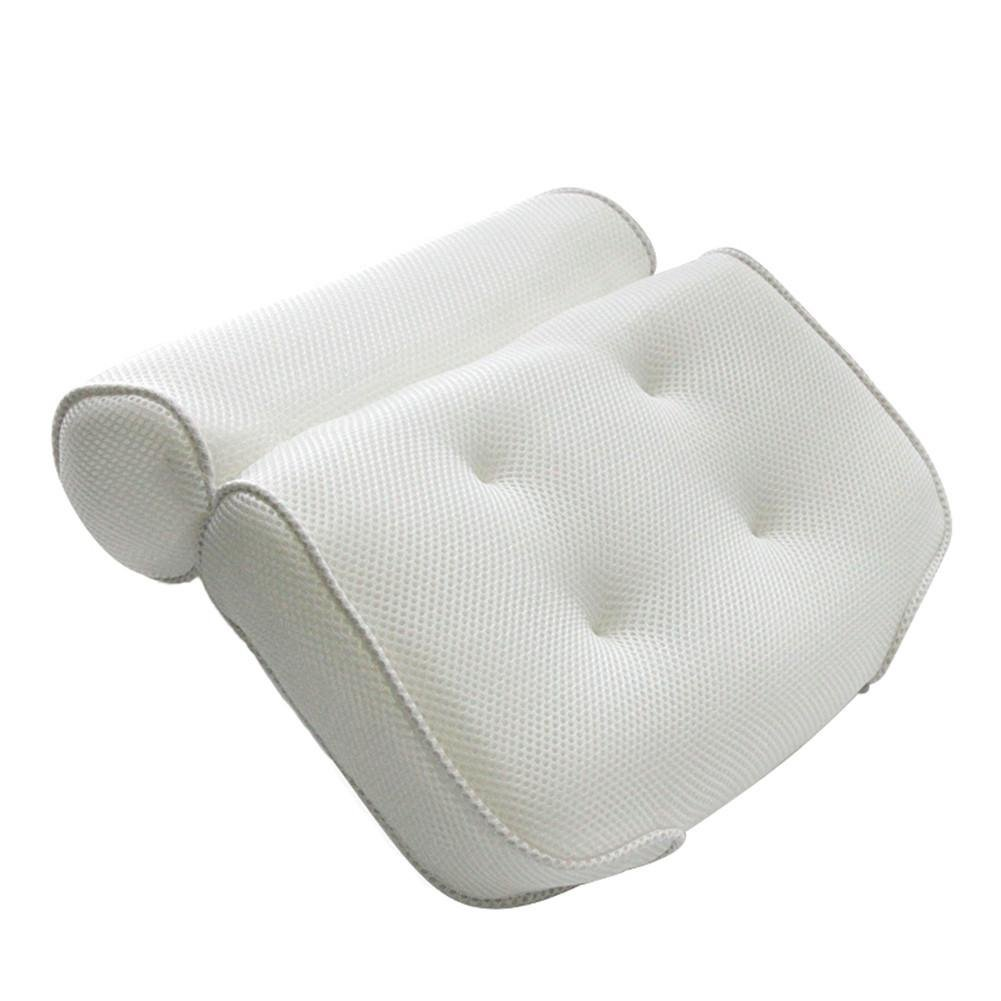 Bath Pillow with Head, Neck, Shoulder and Back Support. Non-Slip, Extra Thick, Soft for The Ultimate Relaxation Experience. Fits Any tub and is Anti-Bacterial Sue Supply