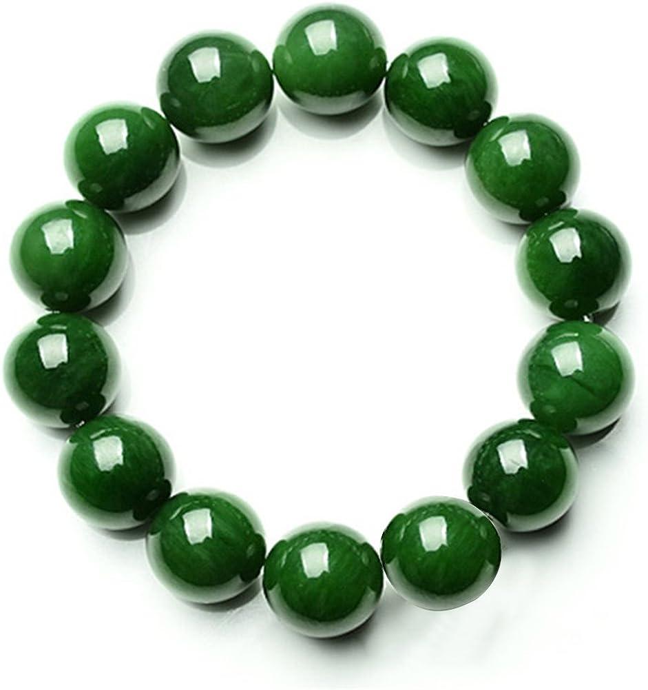 YUnnuopromi - Pulsera elástica para Hombre y Mujer, 10 mm, Color Verde Oscuro