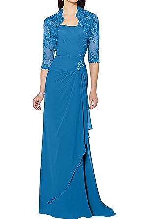 Ivydressing Elegant Navy Damen Spitze Chiffon Brautmutterkleider ...