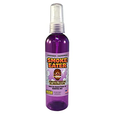Smoke Eater - Breaks Down Smoke Odor at The Molecular Level - Eliminates Cigarette, Cigar or Pot Smoke On Clothes, in Cars, Boats, Homes, and Office - 4 oz Travel Spray Bottle (Lavender): Automotive