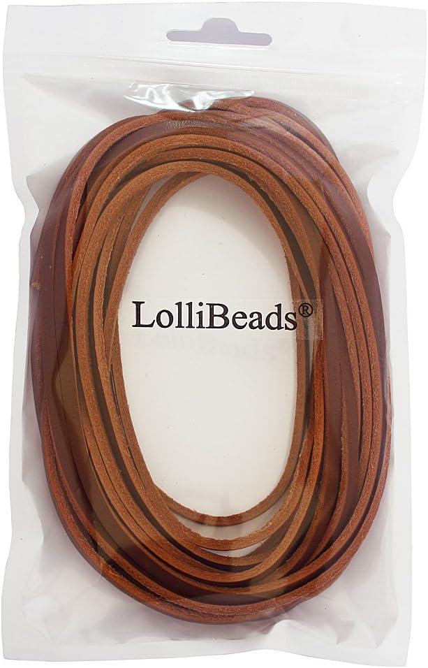 LolliBeads laccio in vera pelle 3mm 6yards Flat Assorted Colors/_3mm/_6M Pelle