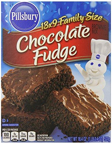 Pillsbury Brownie Mix, 18.4 Ounce (Pack of 12)