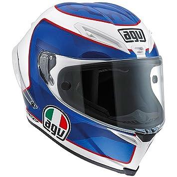 Casco integral de moto AGV Corsa Horice blanco perla / azul / rojo (XXL)