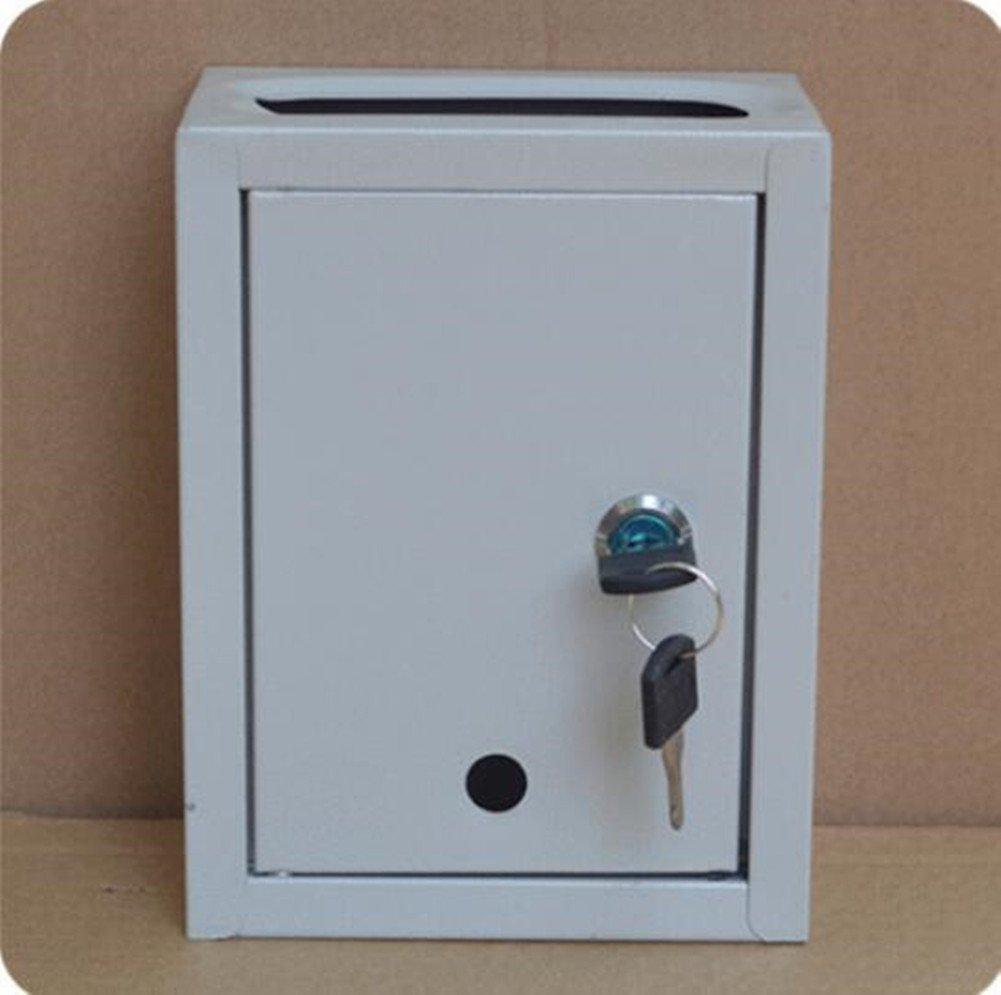 Small milk box Outdoor rainproof mail box Padded metal milk box with lock