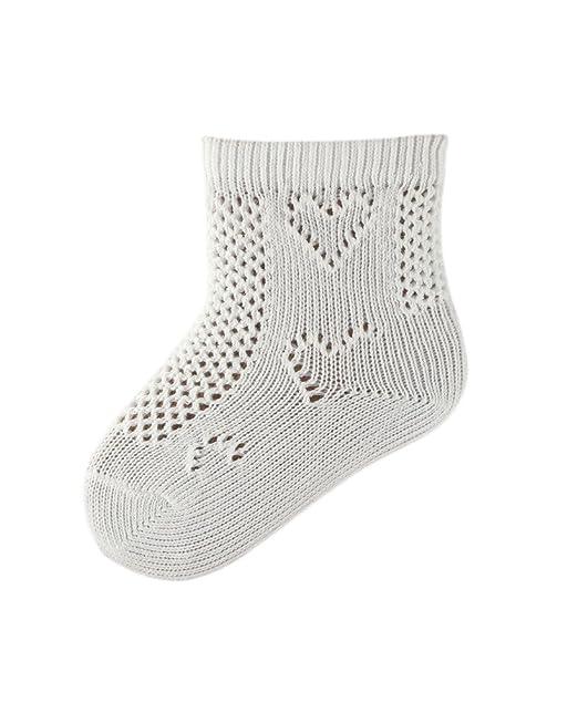 5 Paar Baby/Kleinkind weiß Baumwolle Pelerine Knöchel Socken, Herz ...