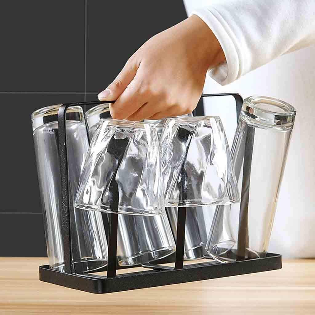 Tangger Metall Abtropfhalter Abtropfgestell f/ür Flaschen und Tassen,2pcs Tassenb/ürste,Tassenhalter,Trinkbecher Tasse Organizer Abtropfgestell