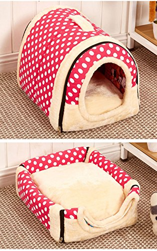 1 Pc Foldable Animal Sleep Bed Kennel Mat Pad Cushion Hanging Cozy Pet House Cage Hammock Cave Hut Winter Warm Nest Tent for Dog Cat Parrot Chinchilla Hamster Guinea Pig Rabbit Squirrel Hedgehog Rat by WWahuayuan (Image #2)