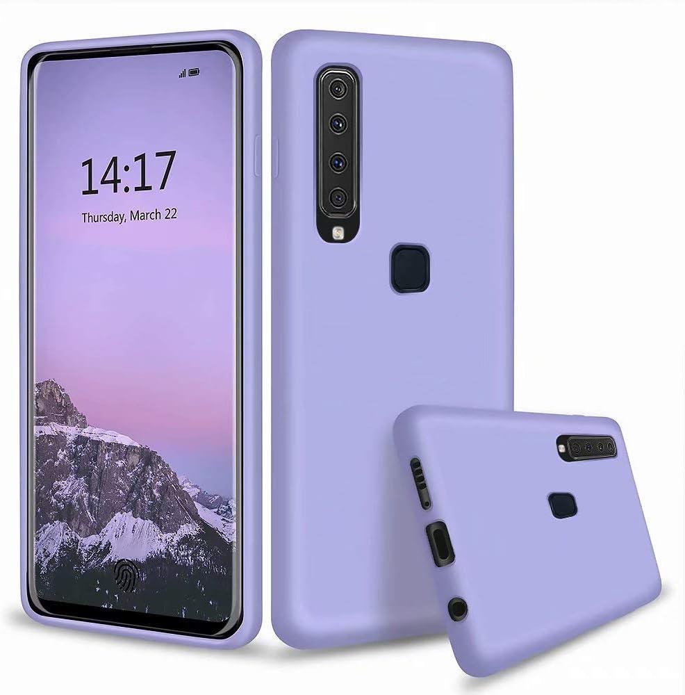 MUTOUREN Funda Samsung Galaxy A9 2018 - Carcasa de TPU para teléfono móvil - Ultra Delgado TPU Silicona Flexible Cover Protectora Gel Suave Bumper Case (Púrpura)