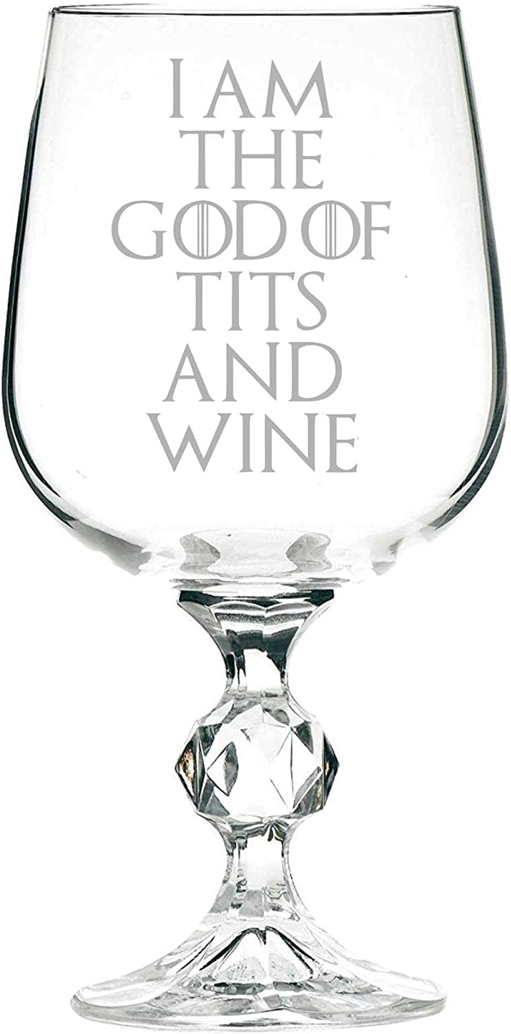 Copa de vino de 325 ml I Am The God of Tits and Wine Game of Thrones Inspired