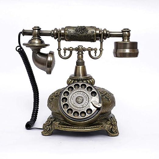 BHXUD Teléfono Vintage,Teléfono Fijo Retro,Tocadiscos Retro ...