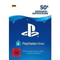 PSN Card-Aufstockung | 50 EUR | PS4, PS3, PS Vita Playstation Network Download Code - deutsches Konto