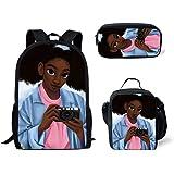 Amazon.com: Smileygirl - Mochila afro americana con bolsa ...