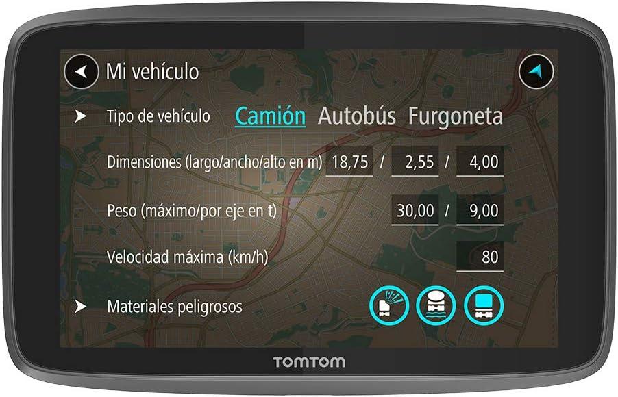 TomTom GO Professional 520, Navegación Profesional para Vehículos Grandes, Tomtom Traffic a Través de Smartphone, 5 pulgadas, Negro/Gris