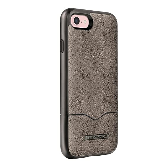 super popular b97bb ddb04 Rebecca Minkoff Inlay Slider iPhone 7 Case, Cracked Leather Anthracite,  iPhone 7