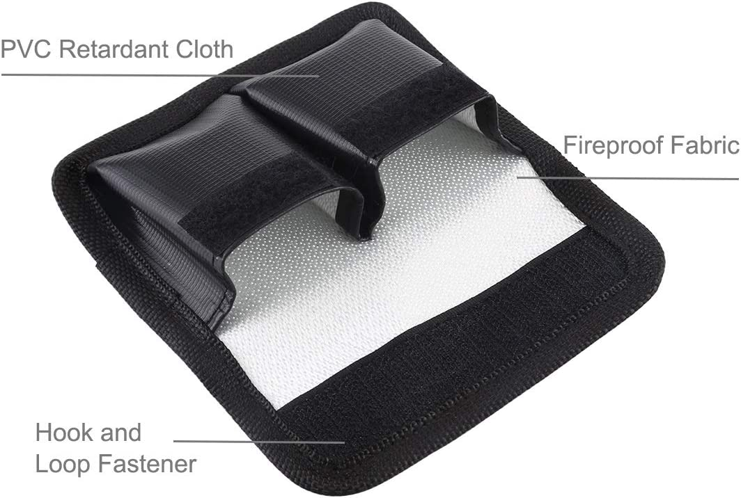 CAOMING Lithium Battery Explosion-Proof Safety Protection Storage Bag with Carabiner for Camera Battery Durable