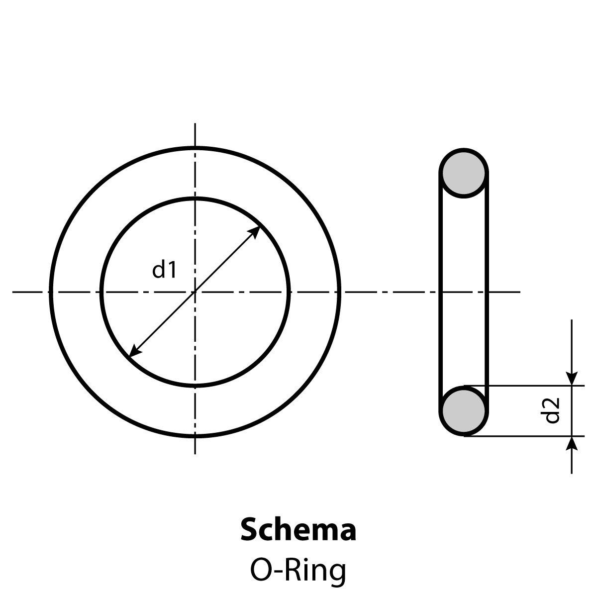 Menge 50 St/ück Dichtringe//O-Ringe 45 x 5 mm NBR 70