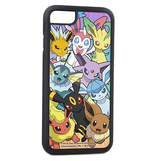 brand new 910b5 1ca32 Buckle-Down Cell Phone Case for iPhone 7 Plus - Eevee Evolution Faces  Close-UP Stacked FCWood - Pokemon